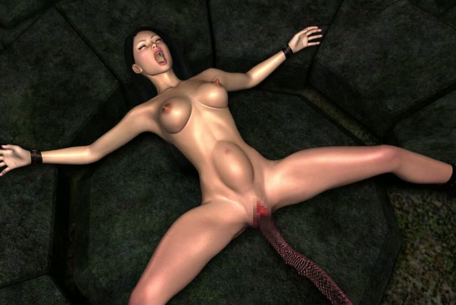 3d Alien Fucks Girl - 3D Alien huge beast with a long tongue penetrated into the wet pussy girls