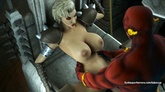 Flash fucks deepthroat a big titted blonde woman