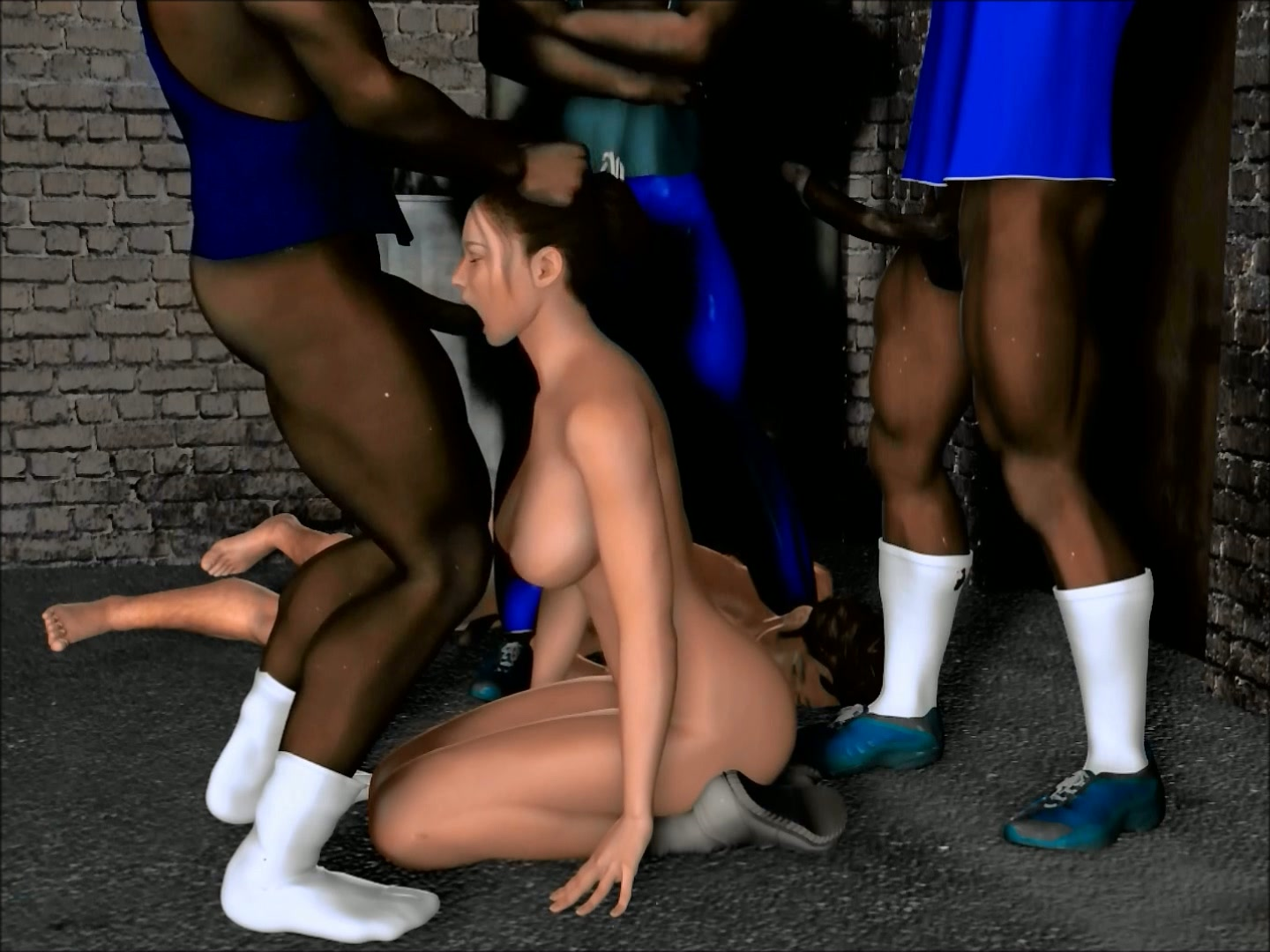Black animated Naked men