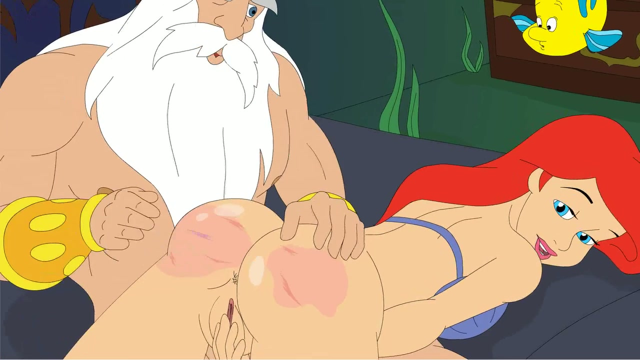 king triton fucks his cute daughter ariel in tight anal hole