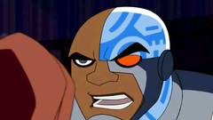 Teen Titans and their Cyborg are banging hot redhead in sex cartoon