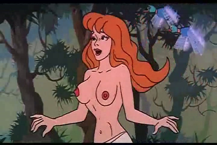 cartoon Naked adult