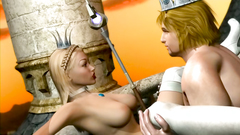 Alice in Wonderland : hardcore fucking with 3d blonde babe