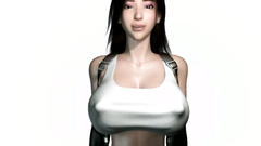 Tifa Lockhart 3d hottie spreads her logs and reveals a young shaved twat