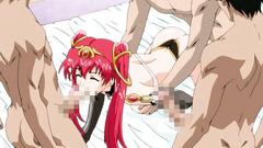 Cartoon porn with a sweet babe giving a deepthroat blowjob