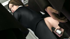 3d porn toon - business woman molested in train