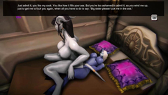Big titted night elf slut rides hard cock