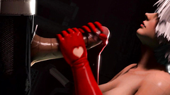 Big breasted 3D babes knows what to do with cock