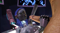 Alien robot fucks with male guy in 3d cartoon