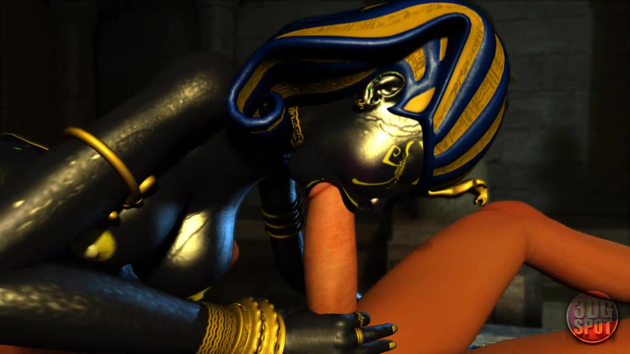 egyptian goddess in hardcore 3d cartoon fuck