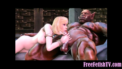 3D Gigantic Monster Fucks Tiny Little Blonde Loli