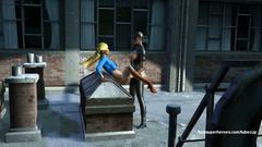 Black Cat with huge strapon dildo extreme bangs blonde Supergirl
