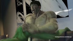 Great Hulk with incredible force fucked in ass Hulk-woman