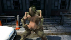 Monster Hulk smashed tight pussy of young blonde babe