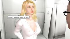 Busty 3D Luna Lovegood skillfully deeply sucks Harry Potter dick