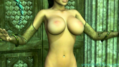 Charming brunette 3D Elf-girl shows us her unsurpassed sexy body
