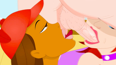 Threesome hardcore anal and ball licking in a toon for redhead lovers