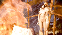 3d porn with hot threesome near the fire | Dragon Age