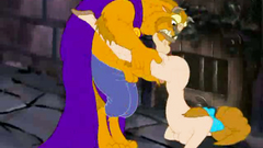 Beaty has her holes smashed by a horny beast   Beaty and the beast