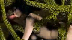 A flock of nasty reptiles fucked sweet girl in anal hole