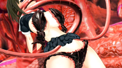 Many 3D evil tentacles penetrate deeply in virgin sweet pussy