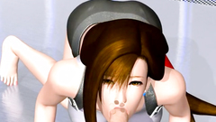 Beauty Tifa with huge boobs makes nice blowjob and anal work   Final Fantasy