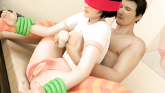 Brutally BDSM sex with young cute girl in sexy stockings