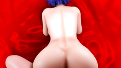 Horny naked 3D babe with huge boobs loves to feel cock in twat