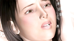 Hardcore BDSM 3d movies with a brunette darling pounded in all holes