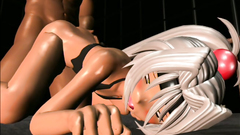 Cute 3d blondy is having her young tiny holes banged