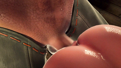 3D Monster with huge cock fuck young princess pussy in doggy style