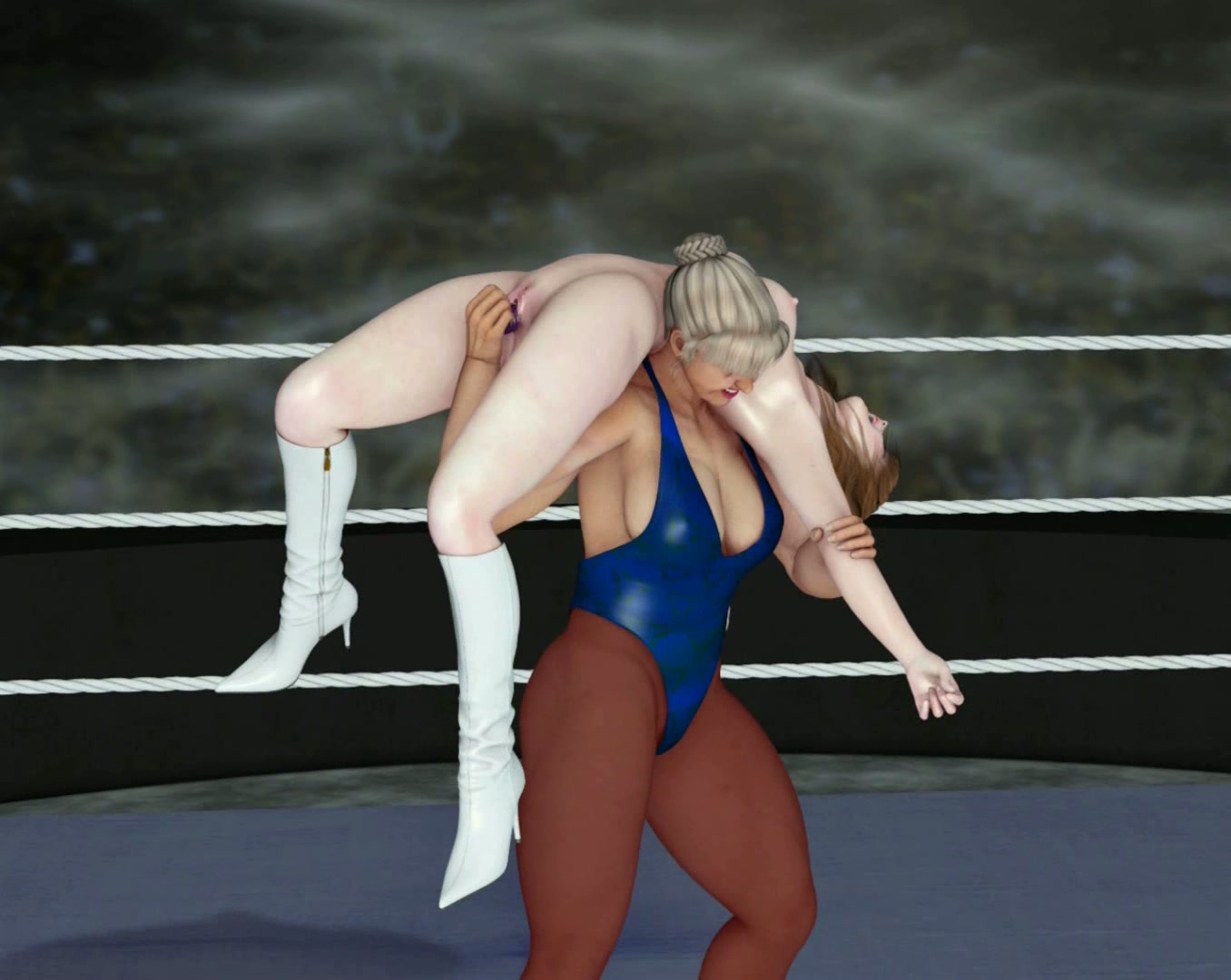 Fight In Porn hot cat fight with a gigant hottie against young 3d cutie