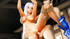 Futanari 3d porn with amazing beauty tied up and banged by horny females