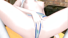Sex toys for a pussy and anus of a stunning 3d babe