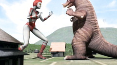 Sex fight between two weird creatures with kinky intentions
