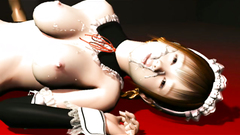 Fabulous hentai maid is getting fucked in her tiny holes