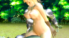 3D cutie gets her tight holes filled with a giant green cocks