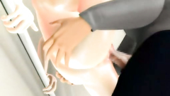 Awesome dark-haired big titted doll gets drilled really hard
