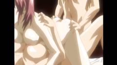 Busty chicks in the futunari cartoon porn action