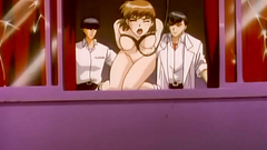 Cruel men in hentai toon have no mercy for a helpless babe