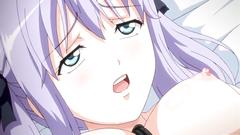 Bondaged beauty masturbated till orgasm in hentai toon