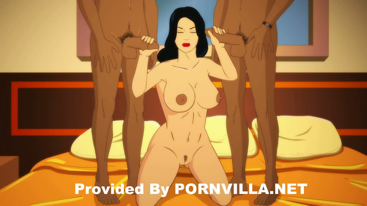 big boobs hentai chick tight twat drilling action