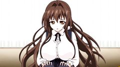 Long-haired busty hentai chick needs hard fuck