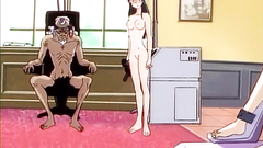 Awesome babe in naughty BDSM hentai toon