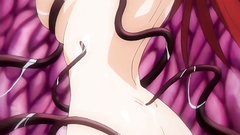 Horny evil tentacles squeezing her beautiful breasts