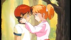 Anime teens in nice and interesting cartoon