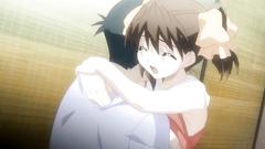 Sweet anime couple makes love in hentai cartoon
