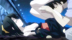 Hot black-haired anime babe gets her pussy licked