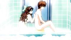 Bathroom fuck with naked slender anime teen