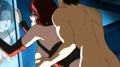 Hardcore hentai fetish fuck with redhead submissive slave